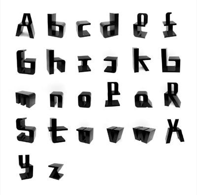Grafik: ABChairs von Roeland Otten